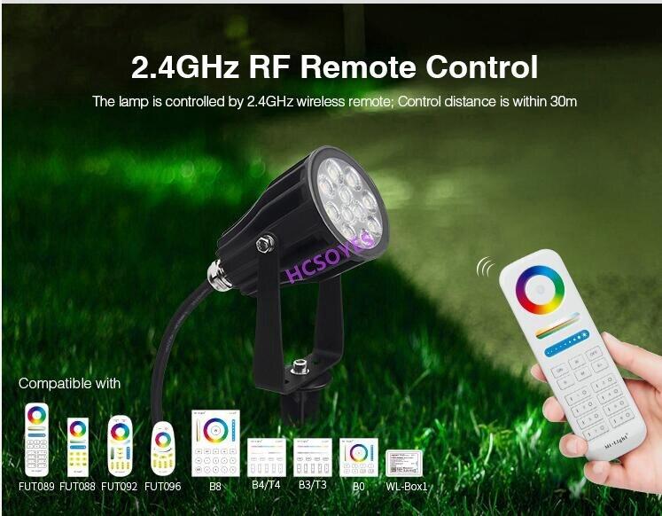 miboxer futc08 rgb cct 6 w conduziu a luz do jardim dc24v futc08 ip66 impermeavel conduziu