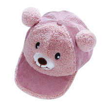 New Arrived Baby Cap Autumn Cartoon Bear Caps Kids Boys Girls Hats Infant Toddlers Baseball Hat Photography Props Beret
