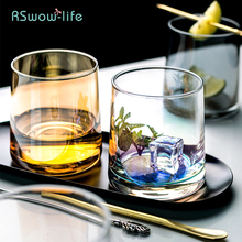 Creative Whiskey Glass Water Juice Milk Cup Household Supplies Transparent Magic Amber Color Drinking Utensils Vessel Round