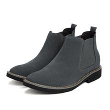 Męskie buty buty na koturnie wzrost wysokości buty dla mężczyzn buty wkładka podwyższająca 6CM formalne buty czarne skórzane buty tanie tanio HOMASS Podstawowe Flock ANKLE Stałe Dla dorosłych NONE Szpiczasty nosek RUBBER Wiosna jesień Wysoka (5 cm-8 cm) Lace-up