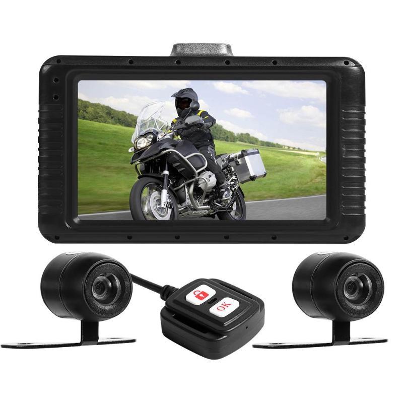 Moto DVR Dash Cam Full HD 1080P et 720P double objectif 3.0 pouces LCD affichage HDR fonction étanche caméra d'action