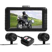 Motorcycle DVR Dash Cam Full HD 1080P and 720P Dual Lens 3.0 Inch LCD Display HDR Function Waterproof Action Camera(China)