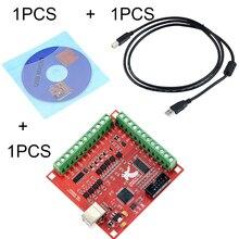 3 Cái/bộ 1 Cái MACH3 Đột Phá Bảng + 1 Chiếc USB Dây + 1 Cái CD CNC USB 100 KHz 4 Trục Giao Diện Điều Khiển Motion Bộ Điều Khiển Lái Xe Ban