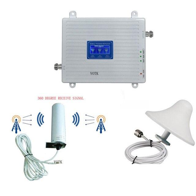 90018002600 Tri Ripetitore DEL SEGNALE di banda 2G3G4G rete Ripetitore CELLULARE 4G LTE AMPLIFICATORE di SEGNALE CON 360 OMNI ANTENNA
