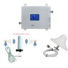 Amplificador de sinal celular 4g lte do repetidor da rede do impulsionador 2g3g4g do sinal da faixa de 90018002600 tri com antena de 360 omni