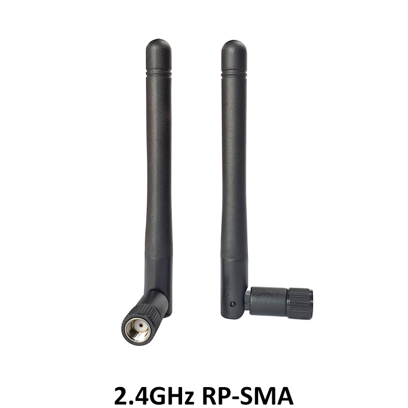 5pcs 2 4 GHz WiFi Antenna 3dBi Aerial RP SMA Male Connector 2 4ghz antena wi fi antenne For Wireless Router Wifi Booster in Antennas for Communications from Cellphones Telecommunications