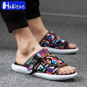 Image 4 - Marka yeni sıcak satmak yazlık terlik erkekler nefes Flip flop çabuk kuruyan erkek plaj ayakkabısı moda serin Sandalias erkekler Pantufa