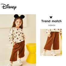 Disney 2019 Fashion Mickey Minnie Girl Sweater New Childrens Printed Top Long Sleeve Round Neck Thick Winter Coat