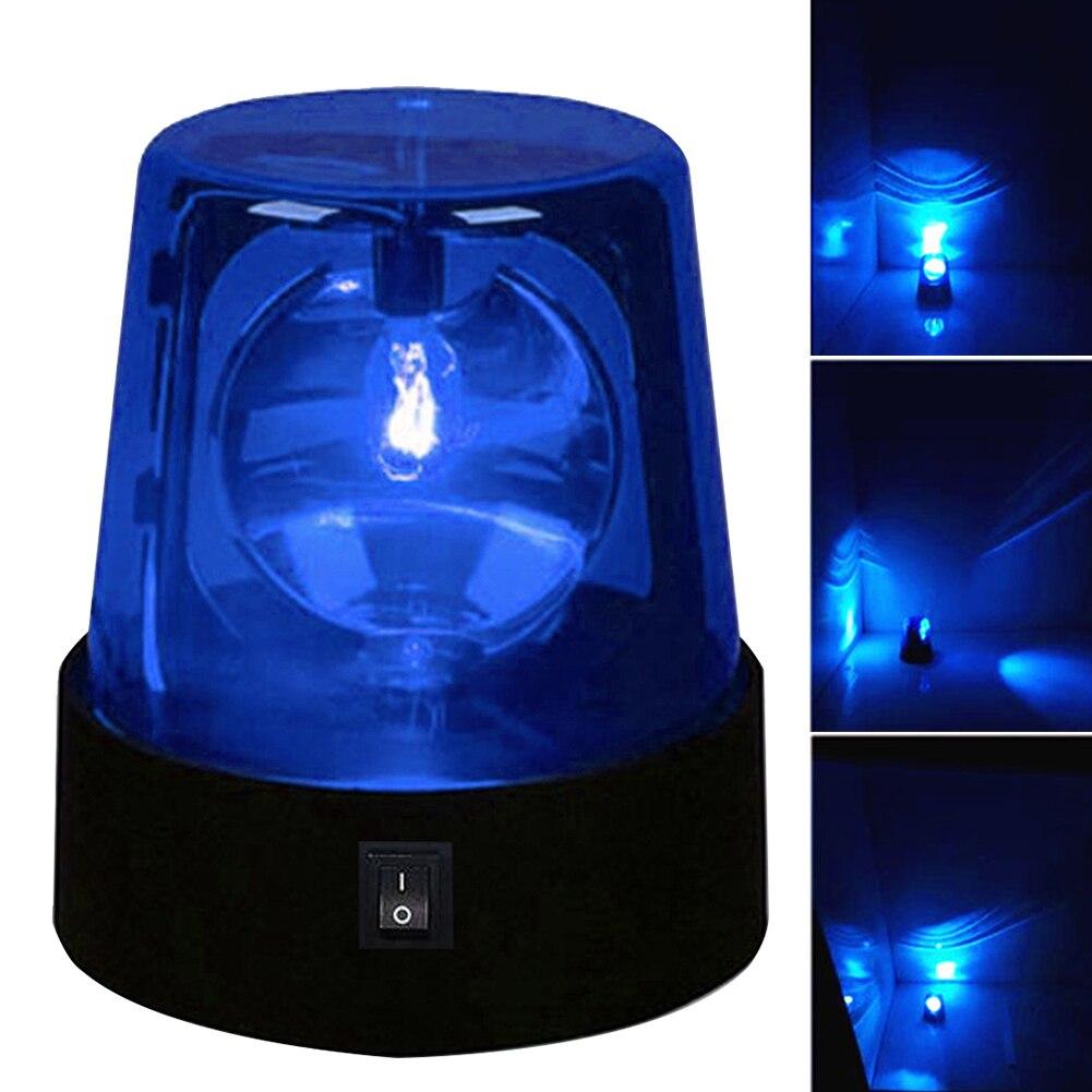 3inch Beam Beacon Desktop 360 Degree Rotating Led Night Strobe Light Lamp DJ Stage Effect Mini Battery Powered Party Flashing