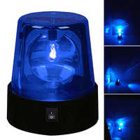 3inch Beam Beacon Desktop 360 Degree Rotating Led Night Strobe Light Lamp DJ Stage Effect Mini Battery Powered Party Flashing