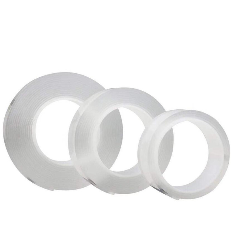 1M/2M/5M Nano Magic Tape Double Sided Tape Transparent No Trace Reusable Waterproof Adhesive Tape Cleanable Home gekkotape 4