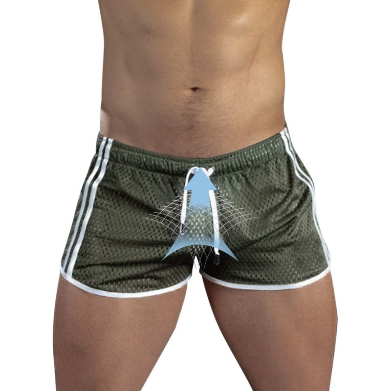 2020 Summer Men Shorts Fitness Bodybuilding Shorts Sexy Mesh Breathable Quick Dry Fashion Casual Joggers Beach Broadshorts