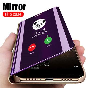 Inteligentne lustro etui z klapką dla Xiaomi Redmi Note 9 9s 8 7 5 6 K20 Pro 8T 9 9A 9C 8 8A 7 7A 6 6A 4X 5 Plus Mi Note 10 Lite Pro pokrywa tanie i dobre opinie LUXMEVE Smart Mirror Stand Phone Case For Xiaomi 4X Redmi Nocie Redmi Note 4 Redmi 5A Redmi 5 Plus MI 8 SE Redmi Uwaga 5 Pro