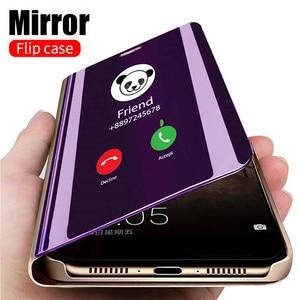 Smart Mirror Flip Case For Xiaomi Redmi Note 9 9s 8 7 5 6 K20 Pro 8T 9 9A 9C 8 8A 7 7A 6 6A 4X 5 Plus Mi Note 10 Lite Pro Cover