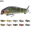CCLTBA Trout Bait Fishing Lures 14cm 21.5g Jointed Minnow Bait Fishing Tackle Lures Wobbler Swimbait