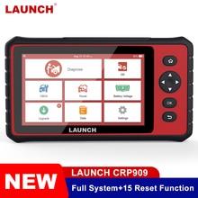 Lansmanı X431 CRP909 profesyonel OBD2 tarayıcı tam sistem Wifi otomotiv TPMS SAS ABS EPB sıfırlama araba için Obd teşhis aracı PK MK808