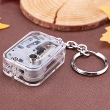 1PC Music Box Keychain Vintage Mini Music