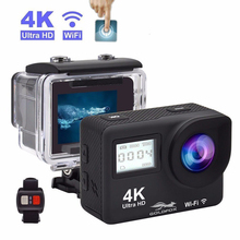 Touch Screen 4K Action Camera WIFI Dual Screen 12MP Helmet Camera 30m Go Waterproof pro Sports DV 170 Wide Angle Sport Camera цена и фото