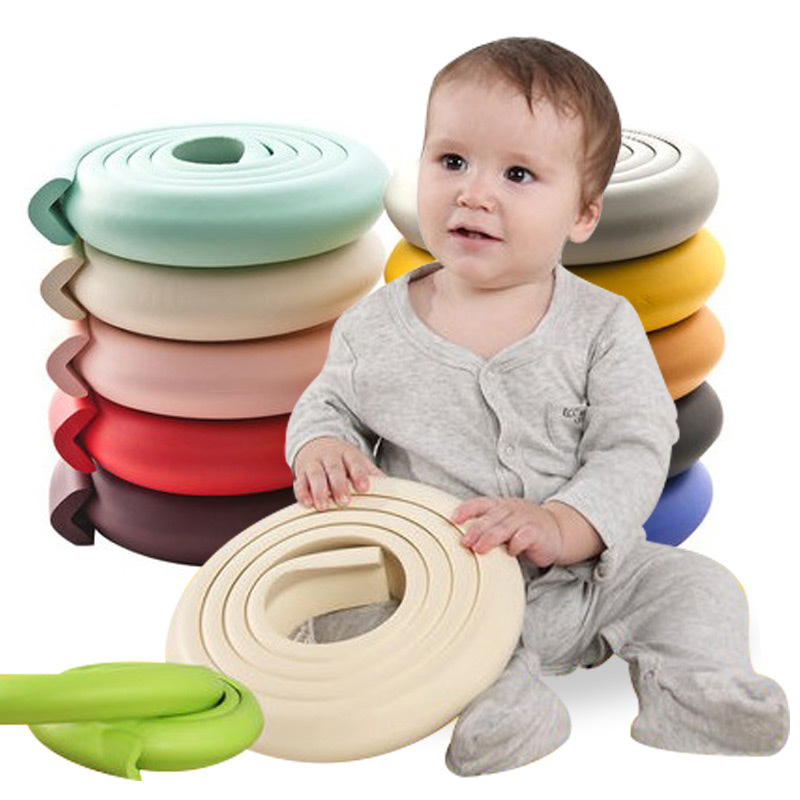 2 M Child Safety Table Corner Protector Soft Foam Bumper Kid Cushion Pad Crash Bar Strip Baby Furniture Corners Angle Protection