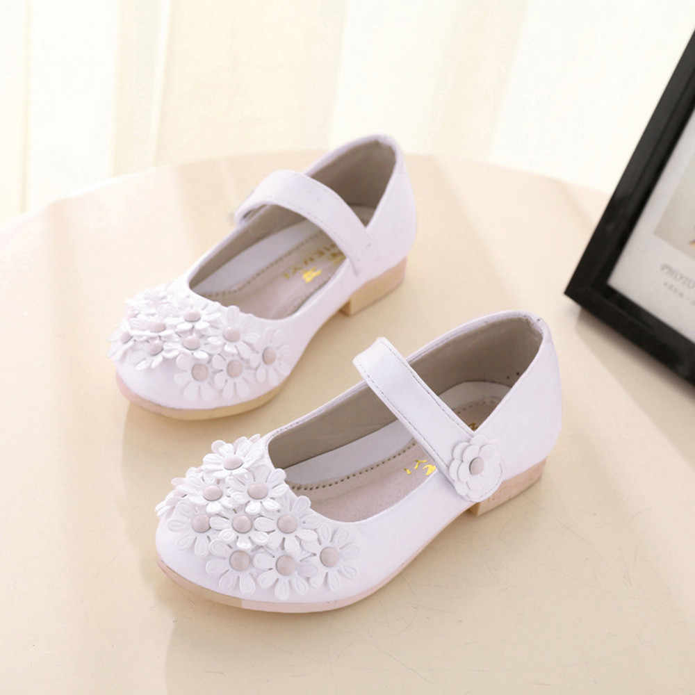 2019 חדש אביב אמיתי עור ילדי נעלי בנות פרח ילדים מקרית נעלי ספורט תינוק פעוט נעלי בנות נסיכה נעלי #11