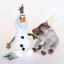 20 см Олаф Свен плюш игрушки Kawaii снеговик Олаф и Свен плюшевый олень мягкие животные куклы игрушки Brinquedos Для детей Подарки для детей