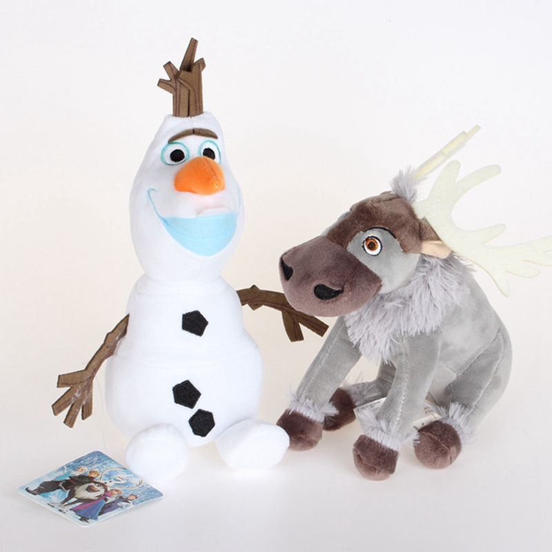20cm Olaf Sven Plush Toys Kawaii Snowman Olaf & Sven Reindeer Plush Stuffed Animals Doll Toy Brinquedos For Children Kids Gifts