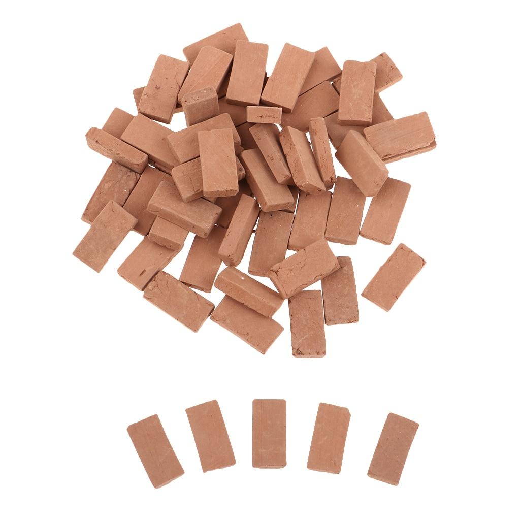 50pcs 1/35 Resin Brick Model Kits Painted For Miniature Landscape Scenery And Wargame Miniatures Terrain Buildings Ruins