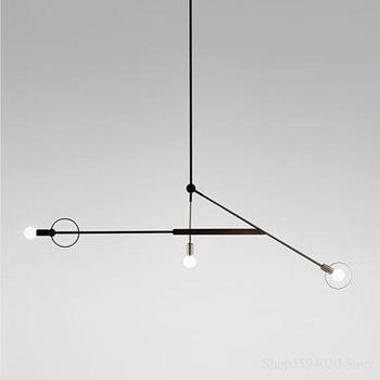 Modern Geometric Line Pendant Lights Nordic Line Hanglamp Loft Decor Industrial Led Pendant Lamp for Living Room Bedroom Fixture