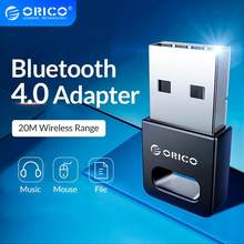 ORICO Mini adaptador de USB inalámbrico Bluetooth 4,0 para Windows XP Vista 7/8/10 conectar PC audífonos con Altavoz Bluetooth Mouse(China)