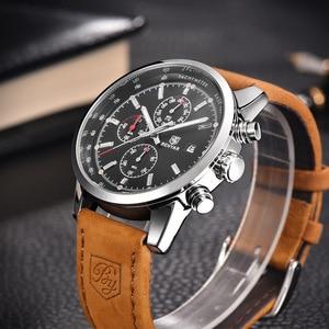 Image 2 - Reloj de cuarzo BENYAR a la moda con cronógrafo deportivo de lujo para Hombre