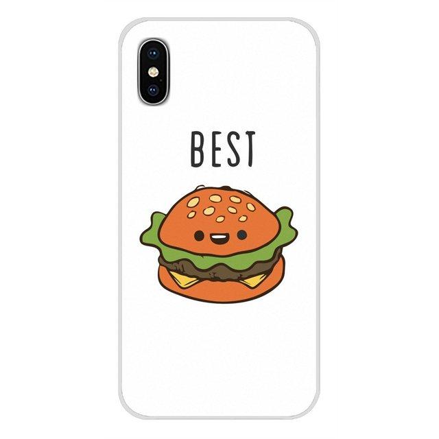 Per Samsung Galaxy A3 A5 A7 A9 A8 star A6 Più 2018 2015 2016 2017 Accessori Borsette Caso BFF best amici Hamburger e Patatine Fritte Cibo