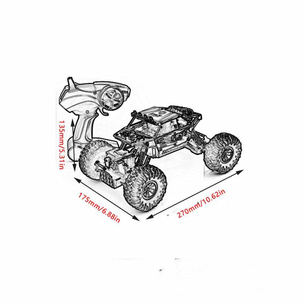 OCDAY 1:18 elektrikli büyük boy uzaktan araçlar araba dört tekerlekten çekiş yüksek hızlı Off Road uzaktan kumanda oyuncak arabalar