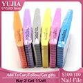3 шт./лот YUJIA 100/180 пилка для ногтей, пилка для ногтей, набор пилок для ногтей, бесплатная доставка, прочная Толстая пилочка для ногтей