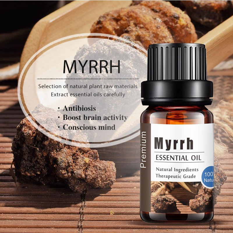 Pure Natural Myrrh Aromatherapy Essential Oils Anti-stress Aroma Diffuser Oil Good Use