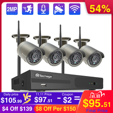 Camera-System Surveillance-Set Vedio-Security Wifi CCTV Waterproof Techage Outdoor Wireless