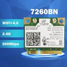 Mini cartão de wifi pci-e para intel wireless-n 7260 7260hmw 7260bn bt4.0 cartão sem fio