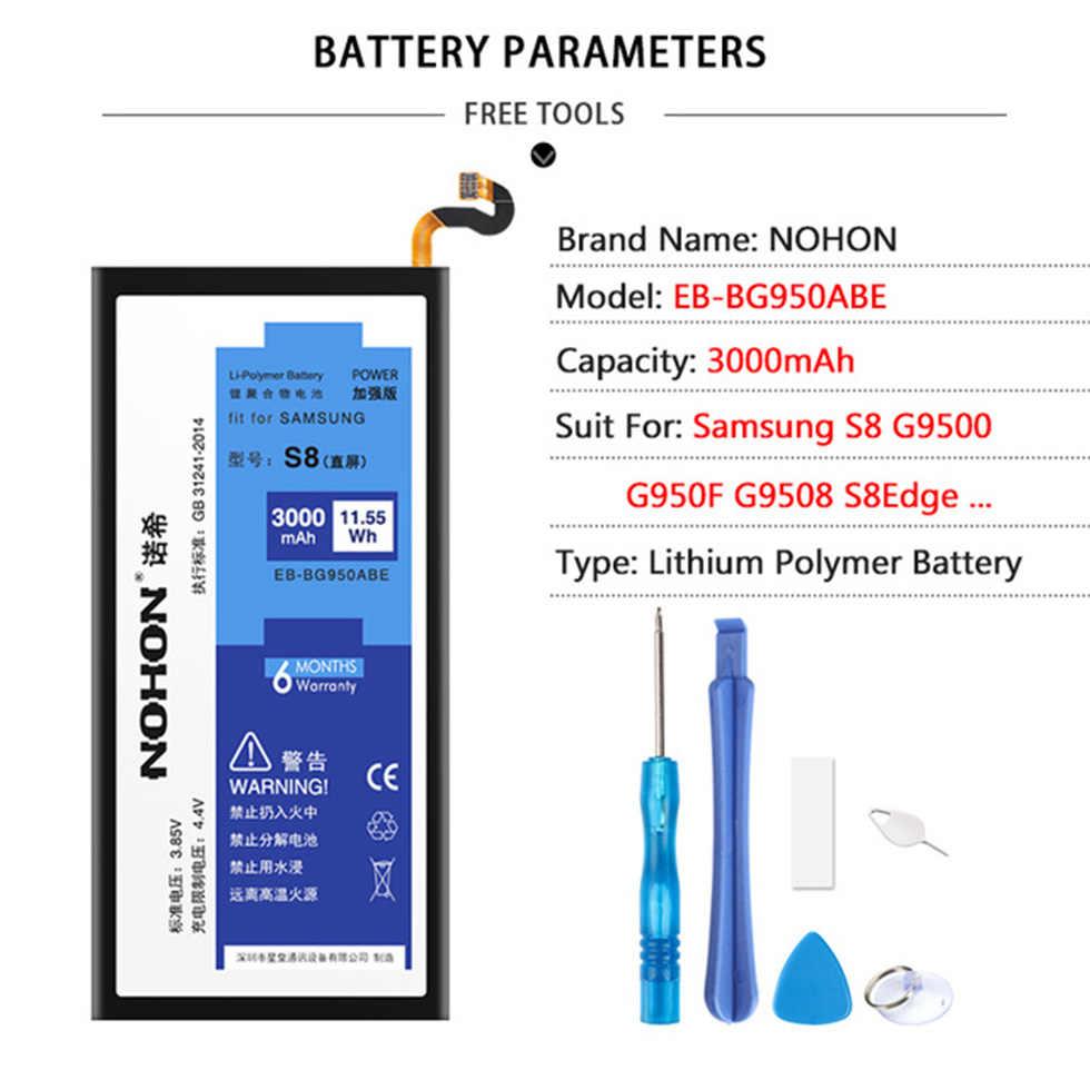 Originele Nohon Voor Samsung Galaxy S5 S6 S7 Rand Batterij SM-G900F G920F G925F G930F G935F Telefoon Hoge Capaciteit Vervangen Gratis gereedschap