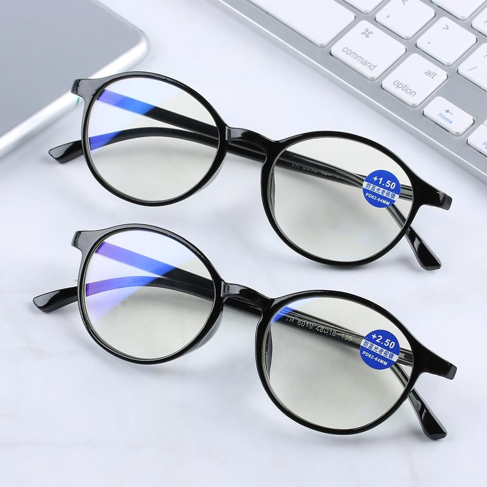 New Unisex Classic Reading Glasses Anti Blue Rays Presbyopia Eyeglasses Antifatigue Computer Eyewear With Strength+1.00~+4.00