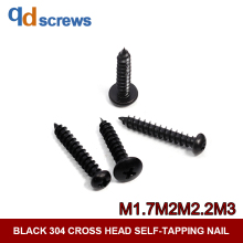 Black Oxide 304 M1.7M2M2.2M2.5M2.9M3 Cross recessed pan head tapping screws self-tapping Phillip round screw GB845 DIN7981