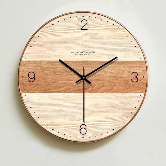שעון קיר בעיצוב מודרני מעץ 1