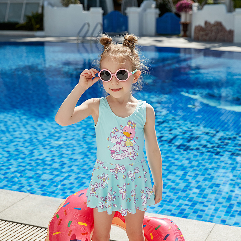 2019 New Style Platypus Item KID'S Swimwear Fashion Cartoon Children WOMEN'S Boxers Skirt Tour Bathing Suit
