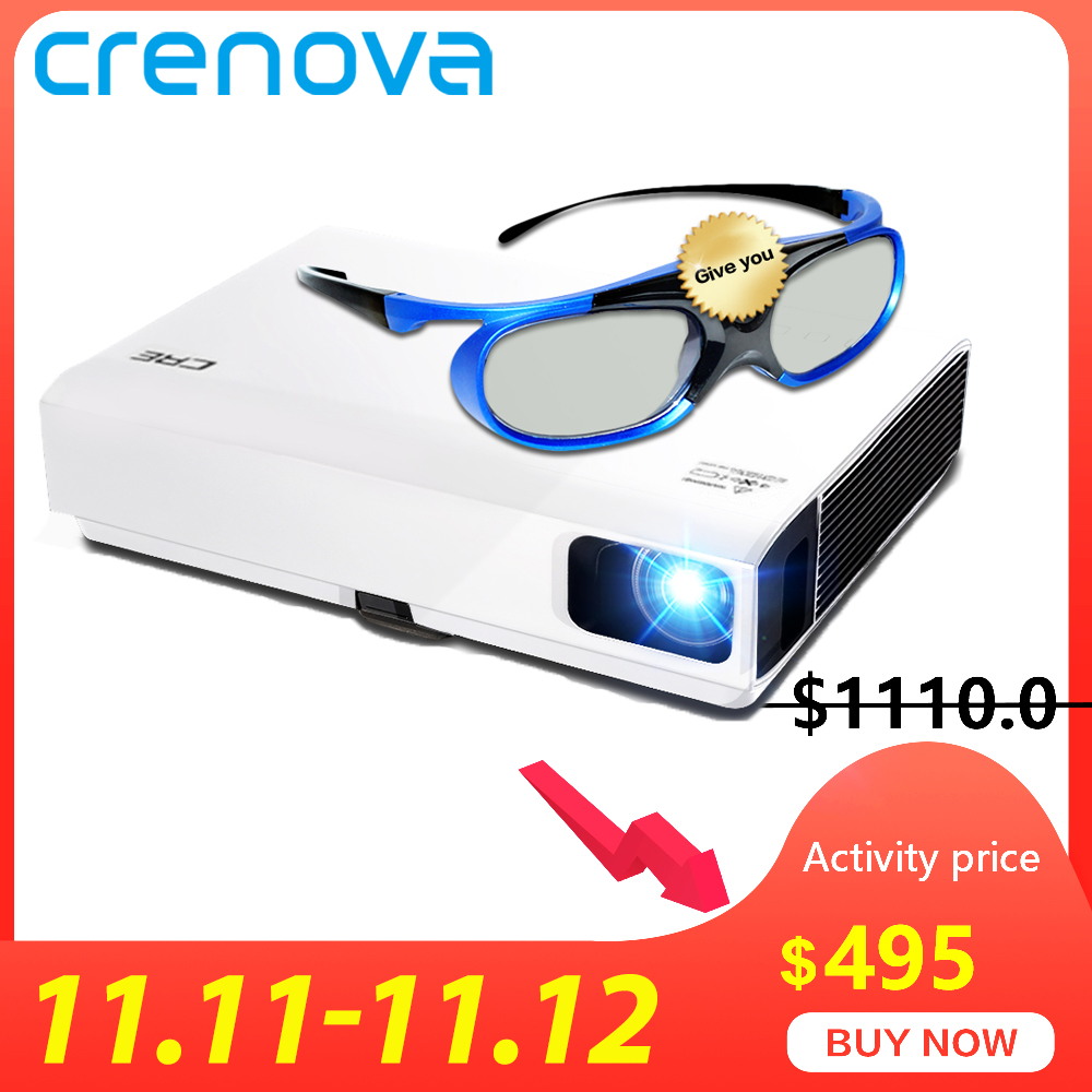 CRENOVA 2019 Newest Laser Projector For Full HD 1080P  Home Theater Movie Android DLP Projector HD 720P WIFI Bluetooth Beamer-in LCD Projectors from Consumer Electronics