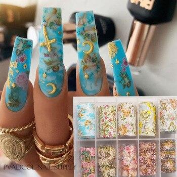 Calcomanía de transferencia de agua para decoración de uñas de Ángel