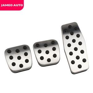 Image 5 - Jameo 自動ステンレス鋼車のペダルパッドペダルシボレークルーズ trax オペル mokka ためマリブ 2013 2018 アストラ j 記章