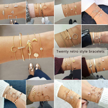 CZ Rhinestone bracelet and bracelet Arrow Crystal Round Circle Bracelet for Women retro Bracelet Jewelry Gifts Femme цена 2017