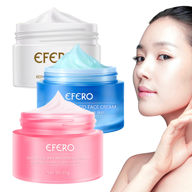 Snail Face Cream with Snail Cream Moisturizing Anti Wrinkle Skin Whitening Cream Hyaluronic Acid Face Serum Freckle Cream EFERO