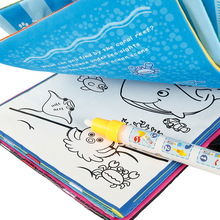 Magic Water Drawing Book Coloring Doodle & Pen Animals Painting Board Early Learning Children Toys Dropship
