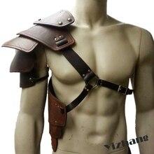 Yizhang средневековый Викинг боевой рыцарь полдроны плеча Броня Ренессанс Винтаж маскарадные реквизиты для вечеринки Косплей