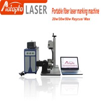 20W 30W 50w fiber laser metal marking machine used for aluminum gold silver brass engraving for sale