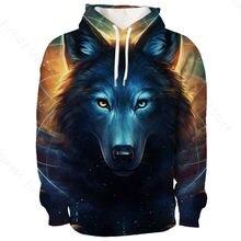 3d print sweatshirts acuarela animals wolf pattern hoodies warm